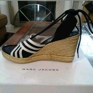 633c2c73e3a Marc Jacobs Shoes - Marc Jacobs Dani Ankle Tie Espadrille Wedge Sandal